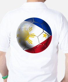 Philippines Soccer Ball Golf Shirt