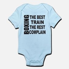BOXING THE BEST TRAIN THE REST COM Infant Bodysuit