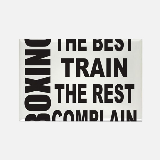 BOXING THE BEST TRAIN THE REST CO Rectangle Magnet