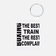 BOXING THE BEST TRAIN THE Keychains