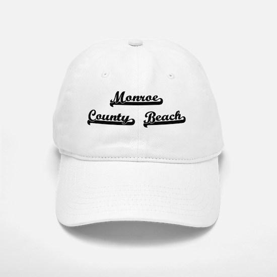 Monroe County Beach Classic Retro Design Baseball Baseball Cap