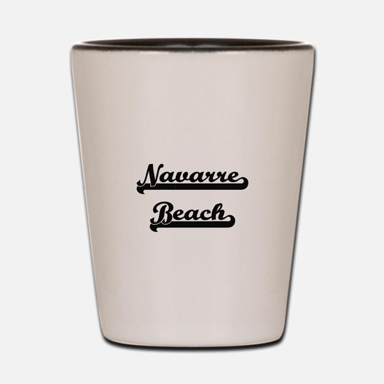 Navarre Beach Classic Retro Design Shot Glass