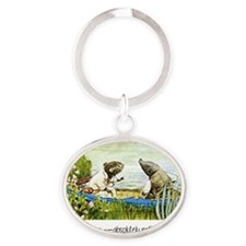 wind in the willows Oval Keychain
