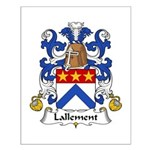 Lallement Family Crest Small Poster
