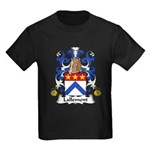 Lallement Family Crest Kids Dark T-Shirt