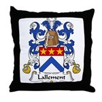 Lallement Family Crest Throw Pillow