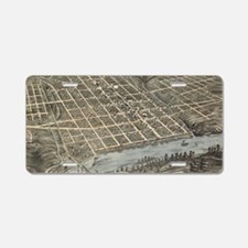 Vintage Map of Knoxville TN Aluminum License Plate