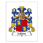 Lalane Family Crest Small Poster