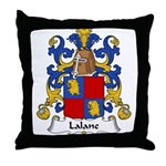 Lalane Family Crest Throw Pillow