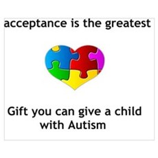 Autism Heart Canvas Art