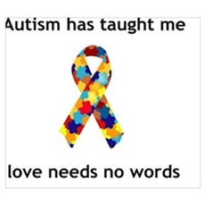 autism ribbon Framed Print