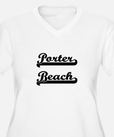 Porter Beach Classic Retro Desig Plus Size T-Shirt