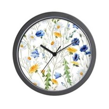 Funny Floral Wall Clock