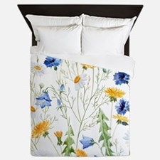Cool Floral Queen Duvet