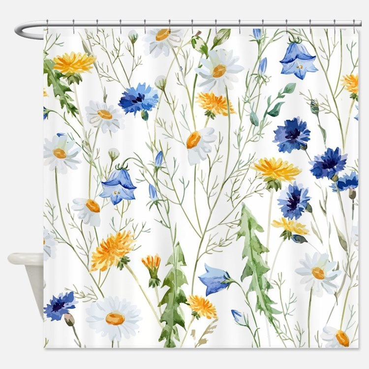 Cute Yellow and blue daisy Shower CurtainYellow And Blue Daisy Shower Curtains   Yellow And Blue Daisy  . Blue And Yellow Shower Curtain. Home Design Ideas