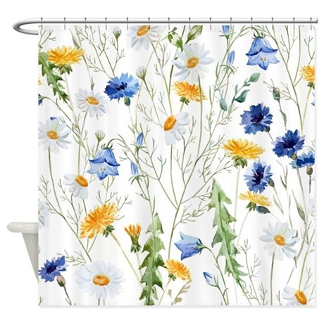 Captivating Cute Daisy Shower Curtain