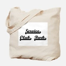 Service Club Park Classic Retro Design Tote Bag