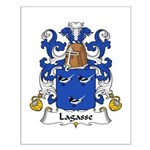 Lagasse Family Crest Small Poster
