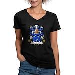 Lagasse Family Crest Women's V-Neck Dark T-Shirt