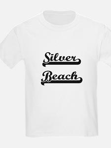 Silver Beach Classic Retro Design T-Shirt