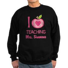 I Love Teaching personalized apple Sweatshirt