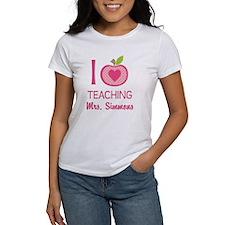I Love Teaching personalized apple T-Shirt