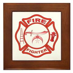 Shrine Fire Fighter Framed Tile