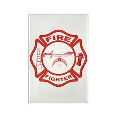 Shrine Fire Fighter Rectangle Magnet