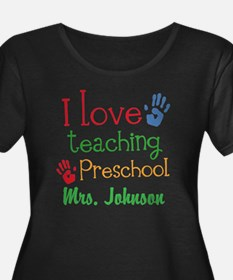 I Love Teaching Preschool Plus Size T-Shirt