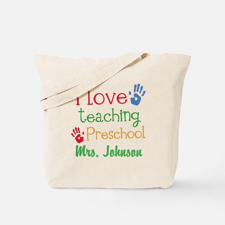 I Love Teaching Preschool Tote Bag