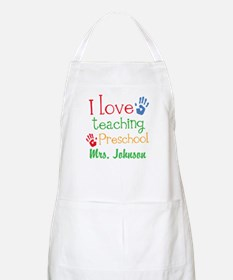 I Love Teaching Preschool Apron