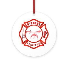 Shrine Fire Fighter Ornament (Round)
