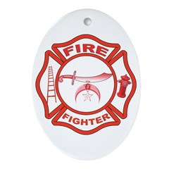 Shrine Fire Fighter Oval Ornament