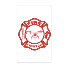 Shrine Fire Fighter Rectangle Decal