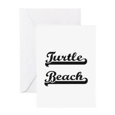 Turtle Beach Classic Retro Design Greeting Cards