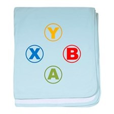 Xbox Buttons baby blanket