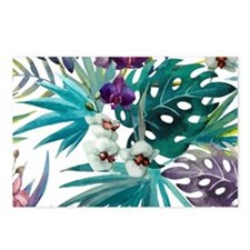 Funny Tropical flowers Postcards (Package of 8)