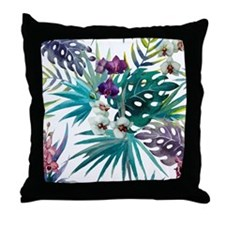 Funny Orchids Throw Pillow