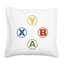 Xbox Buttons Square Canvas Pillow
