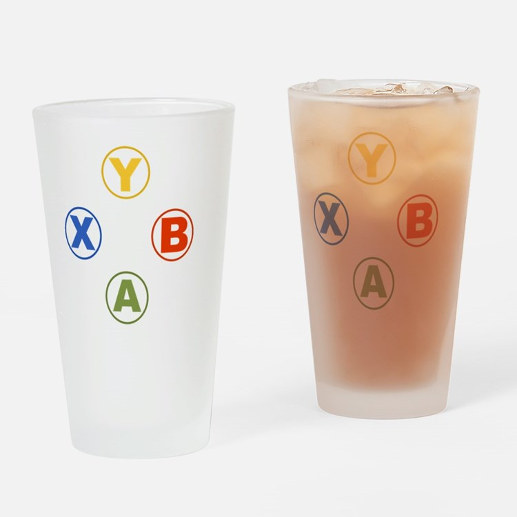 Xbox Buttons Drinking Glass