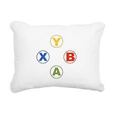 Xbox Buttons Rectangular Canvas Pillow
