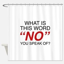 What Is This Word No Shower Curtain