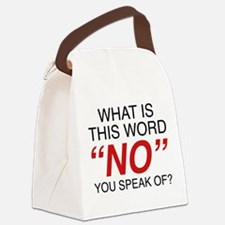 What Is This Word No Canvas Lunch Bag