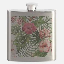 Unique Hawaiian flowers Flask