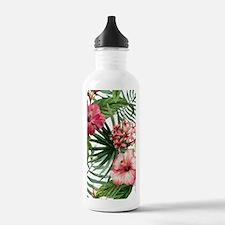 Unique Hawaiian flowers Water Bottle