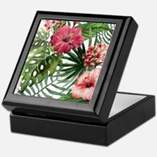 Funny Tropical flowers Keepsake Box