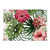 Pink hibiscus 5x7 Rugs