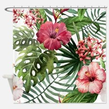 Unique Tropical flowers Shower Curtain