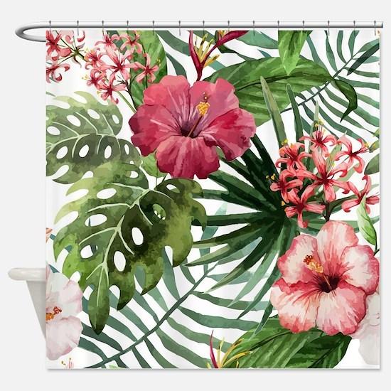 Unique Tropical Shower Curtain
