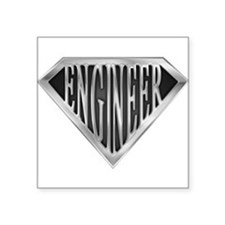 "Funny Engineer Square Sticker 3"" x 3"""